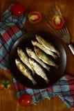 菲律宾纤巧叫Tuyo或干鱼 图库摄影