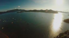 菲律宾自然 小山和海岛 Busuanga海岛 Coron 巴拉望岛 股票视频