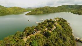 菲律宾自然 小山和海岛 Busuanga海岛 Coron 巴拉望岛 股票录像