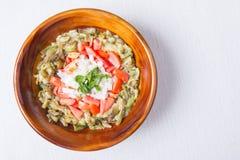 菲律宾茄子沙拉可口开胃菜  免版税库存照片