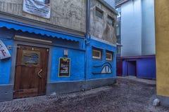 菲拉赫,奥地利,城市的中央部分的街道的 库存照片