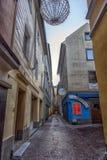 菲拉赫,奥地利,城市的中央部分的街道的 库存图片