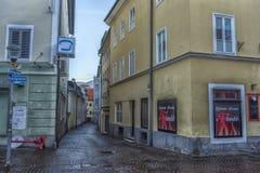 菲拉赫,奥地利,城市的中央部分的街道的 免版税图库摄影