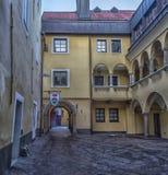 菲拉赫,奥地利,城市的中央部分的街道的 图库摄影