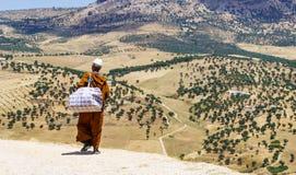 菲斯全景, Marocco 库存照片