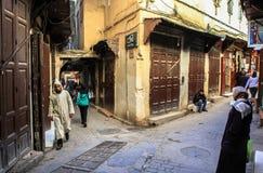菲斯麦地那在摩洛哥 免版税库存图片