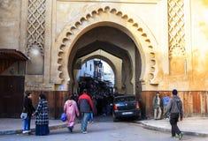 菲斯麦地那在摩洛哥 免版税图库摄影