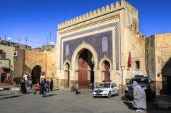 菲斯麦地那门在摩洛哥 库存照片