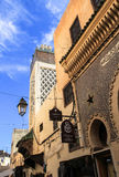菲斯麦地那建筑学在摩洛哥 免版税库存照片