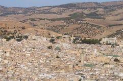 菲斯,摩洛哥全景视图  免版税库存图片