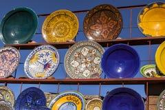 菲斯,摩洛哥陶瓷纪念品  库存图片