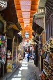 菲斯,摩洛哥, 2012年5月31日-日常生活在菲斯麦地那  免版税库存照片