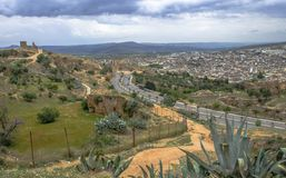 菲斯Fes中心,摩洛哥全景  图库摄影