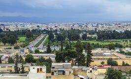菲斯Fes中心,摩洛哥全景  库存照片