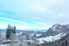 菲森山在冬天 库存图片
