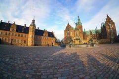 菲特列堡城堡在哥本哈根,丹麦附近的希勒勒 库存图片
