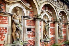 菲特列堡宫殿或城堡,希勒勒,丹麦 免版税图库摄影