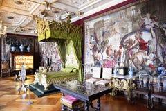 菲特列堡槽孔(城堡)卧室 免版税库存照片