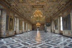 菲特列堡槽孔(城堡)大厅(Riddersalen) 免版税库存照片