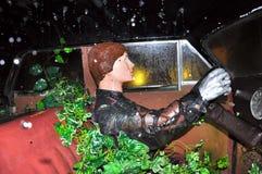 菲盖尔, SPAIN-AUGUST 6 :在超现实主义的汽车里面在8月6,2009的大理博物馆。 免版税库存照片