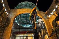 菲盖尔, SPAIN-AUGUST 6 :大理博物馆的玻璃圆顶8月6,2009的在卡塔龙尼亚,西班牙。大理剧院和博物馆是a 库存照片