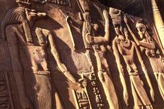 菲莱埃及墙壁上的坟茔绘画寺庙  库存照片