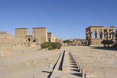 菲莱寺庙在埃及 免版税库存照片