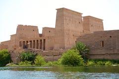 菲莱寺庙在阿斯旺,埃及 图库摄影
