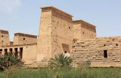 菲莱寺庙,在Agilkia海岛上 埃及 免版税库存图片
