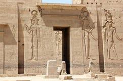 菲莱寺庙,在Agilkia海岛上 埃及 库存照片