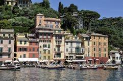菲诺港村庄,意大利 免版税库存照片