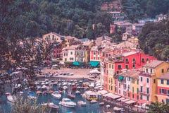 菲诺港的颜色 免版税库存图片