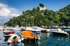 菲诺港,意大利语里维埃拉,意大利 免版税库存照片