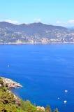 菲诺港,意大利 免版税图库摄影