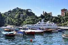菲诺港-意大利 库存照片