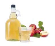 萍果汁和红色苹果 免版税图库摄影