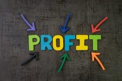 营业利润、成功在投资或公司收支更多t 库存图片