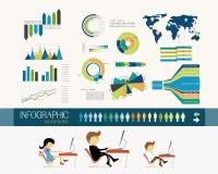 营业所和infographics 皇族释放例证