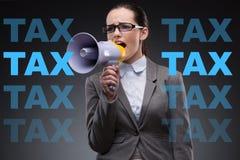 营业税概念的女实业家 免版税图库摄影