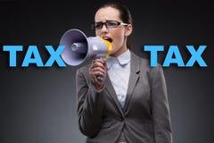 营业税概念的女实业家 免版税库存照片