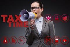 营业税概念的女实业家 库存照片