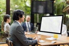 营业通讯公司企业家概念 库存图片