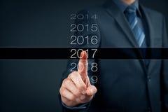 营业年度2017年 免版税库存照片