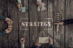 经营战略和配合概念 免版税库存照片