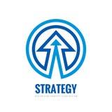 经营战略-导航商标模板概念例证 发展标志 在圈子形状的抽象箭头 设计要素例证图象向量 皇族释放例证