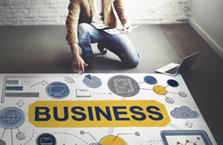 经营战略Startup Success Growth Company概念 免版税库存图片