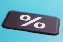 营销和销售概念 百分率符号代表的折扣和委员会概念 库存图片