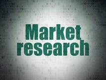 营销概念:对数字资料纸背景的市场研究 库存图片