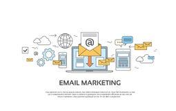 营销电子邮件膝上型计算机信封送企业邮件设备娱乐 免版税库存照片
