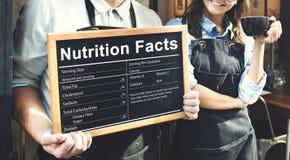 营养事实健康医学Eatting食物的饮食概念 免版税库存照片
